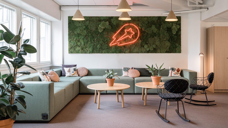 Restatop toteutti yhdessä Rune&Berg Designin kanssa Delivery Heron uuden toimiston Helsingin Pasilaan.