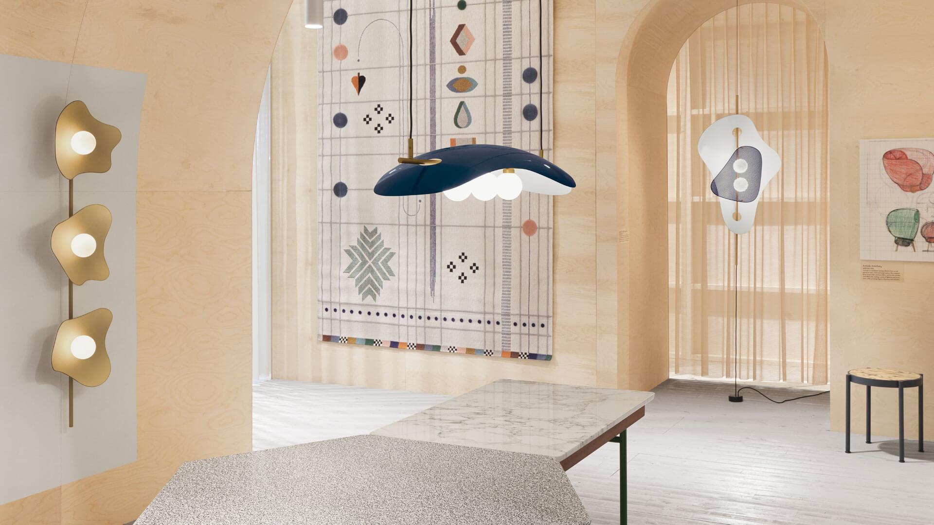 Pyöreät muodot, aidot materiaalit ja monokromaattinen värimaailma nousivat esiin Tukholmassa